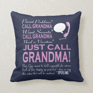 Just Call Grandma! Throw Pillow