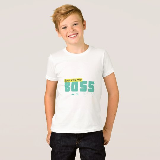 Just call me boss Kids' Jersey T-Shirt