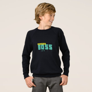 Just call me boss Kids' Raglan Sweatshirt