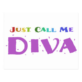 Just Call Me Diva Postcard