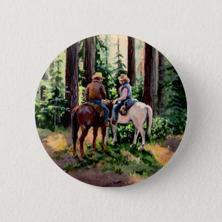 JUST CHATIN'  by SHARON SHARPE 2 Inch Round Button