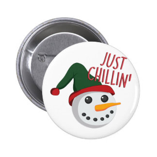 Just Chillin 2 Inch Round Button