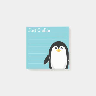 Just Chillin Baby Penguin Post-it Notes