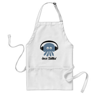 Just Chillin' Blue Jellyfish With Headphones Standard Apron