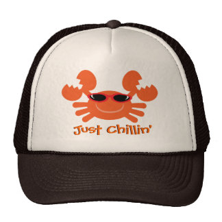 Just Chillin' Crab With Sunglasses Trucker Hat