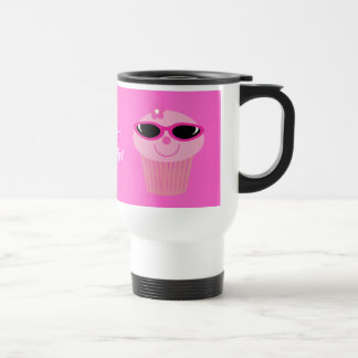 Just Chillin' Cupcakes With Sunglasses Stainless Steel Travel Mug