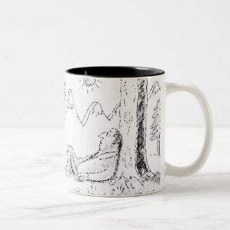 Just Chillin Mug by Lin Larsen