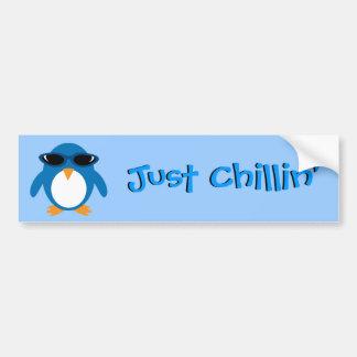 Just Chillin' Penguin With Sunglasses Bumper Sticker