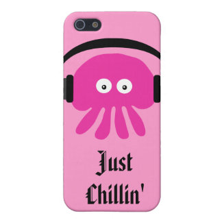 Just Chillin' Pink Jellyfish With Heads Case For The iPhone 5