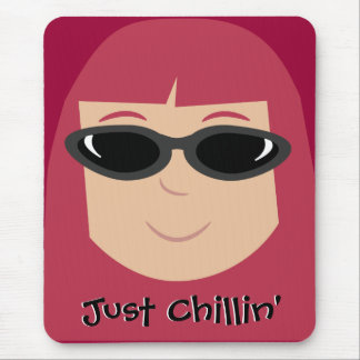 Just Chillin' Redhead With Sunglasses Mouse Pad