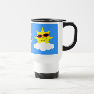 Just Chillin' Suns With Sunglasses 15 Oz Stainless Steel Travel Mug