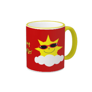 Just Chillin' Suns With Sunglasses Ringer Mug