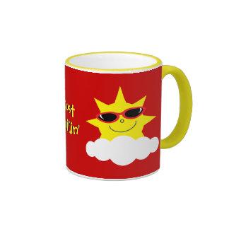 Just Chillin' Suns With Sunglasses Ringer Mug