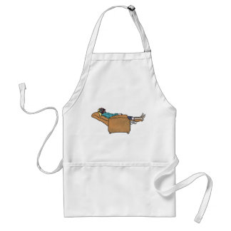 Just chilling book reading funny novelty art apron standard apron