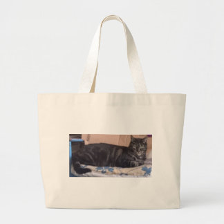 Just Chilling Dave Large Tote Bag