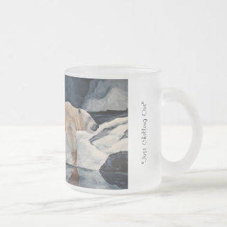 """Just Chilling Out"" by artist Laurel Jeninga Frosted Glass Coffee Mug"