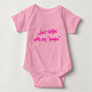 "...just chillin'with my ""peeps"" for girls baby bodysuit"