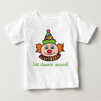 Just Clowning Around Cute Circus Clown Baby T-Shirt