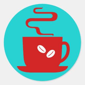 Just Coffee Round Sticker