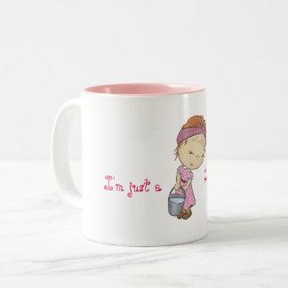 Just cute (country) girl Two-Tone coffee mug