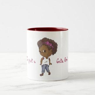 Just cute (stylish) girl Two-Tone coffee mug