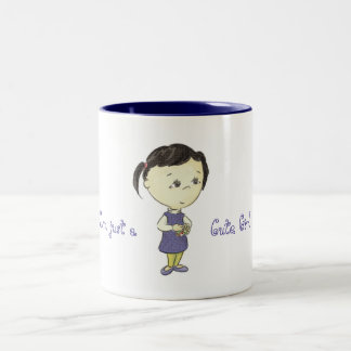 Just cute (to clever) girl Two-Tone coffee mug