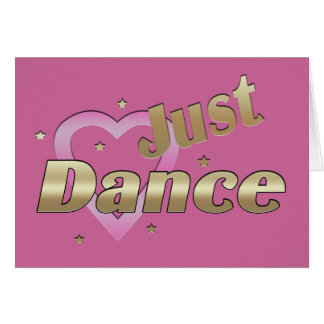 """""""Just Dance"""" BLANK Note Card"""