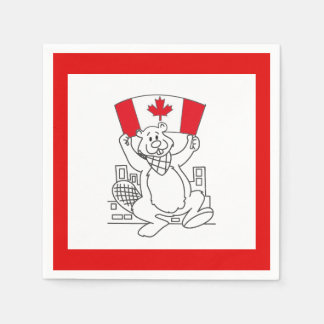 Just Dance Canada Day Party Paper Napkins