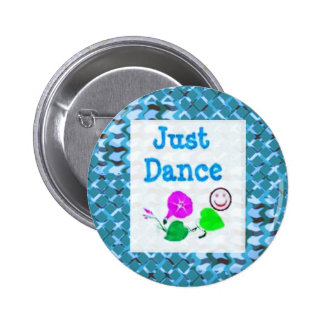 JUST Dance - Sparkle BLUE Diamond Base LOWPRICE Pinback Buttons
