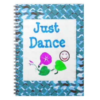 JUST Dance - Sparkle BLUE Diamond Base LOWPRICE Spiral Notebooks