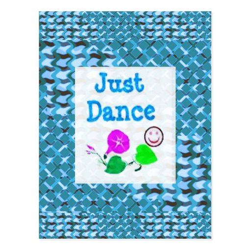 JUST Dance - Sparkle BLUE Diamond Base LOWPRICE Postcard