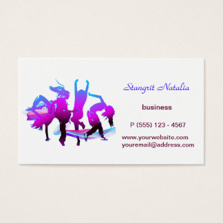Just dancing business card