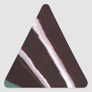 Just Dessert - Odd Abstract Cake Painting Triangle Sticker