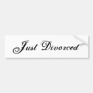 Just Divorced Bumper Sticker