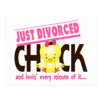 Just Divorced Chick Postcard