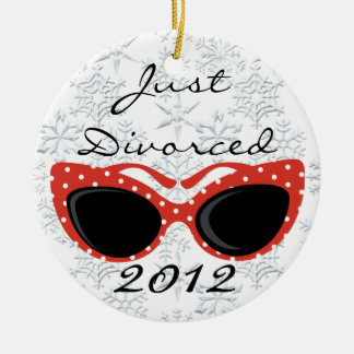 Just Divorced Christmas Ornament
