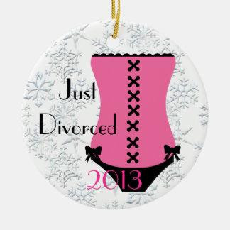 Just Divorced Corset Christmas Ornament