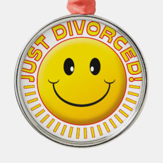 Just Divorced Smiley Metal Ornament