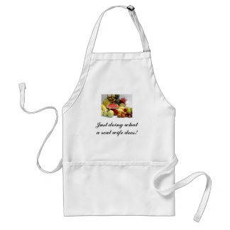 Just doing what i real wife does! adult apron