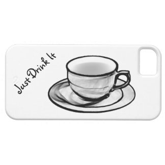 Just Drink It - Coffee on a light background iPhone 5 Cover