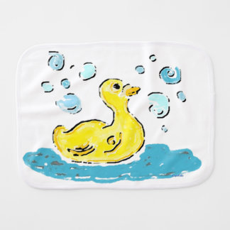 Just Duckie (teal) Burp Cloth