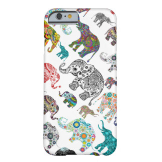 Just Elephant Random Pattern Barely There iPhone 6 Case