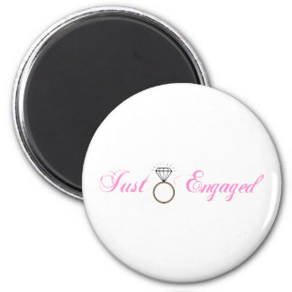 Just Engaged (Diamond Engagement Ring) 2 Inch Round Magnet
