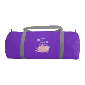Just Five More Minutes Funny Cute Sleepy Pig Gym Bag