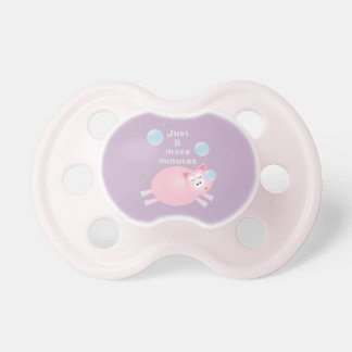 Just Five More Minutes Funny Sleepy Pig Unisex Pacifier