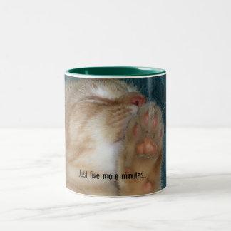 Just five more minutes... Two-Tone coffee mug