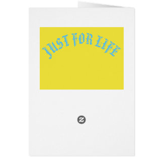 JUST FOR LIFE YELLOW BLUE CARTE DE VOEUX CARD