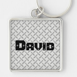 Just for Men Diamond Plate Keychain