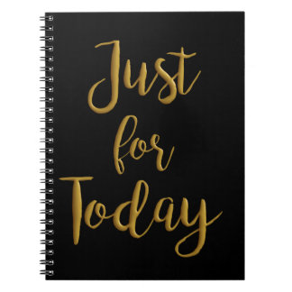 Just For Today gold quote AA NA 12 step recovery Note Book