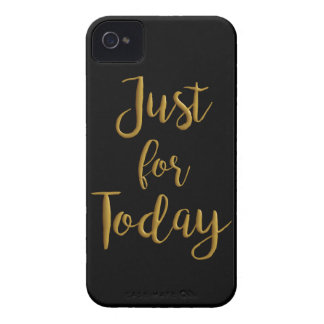 Just For Today recovery quote AA NA slogan gift iPhone 4 Covers